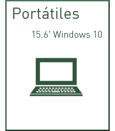 Portátiles 15.6' Windows 10